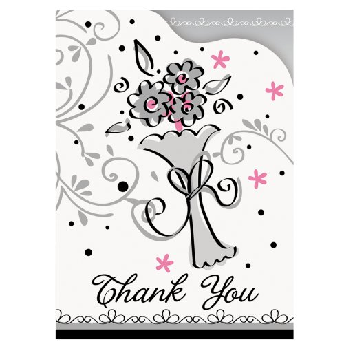 Wedding Style Thank You Note Cards, 8ct