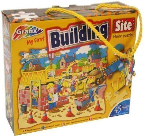 Grafix - Meine Erste Baustelle Boden-Puzzle (45 Teile)