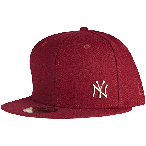 New era casquette new york yankees melton metal Rouge