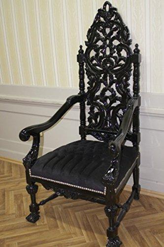 LouisXV Sillón Barroco fauteuille Silla Trono pompa sillón AlCh0338SwSw Estilo Antiguo