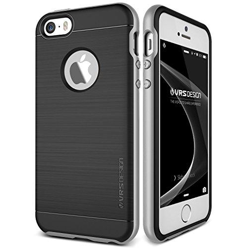 Coque iPhone SE/5S/5, VRS Design [High Pro Shield][Or Rose] - [Anti Chocs Case][Miltary Grade][Anti Scratch Etui][Housse Protection]- pour Apple iPhone 5/5S/SE Argent