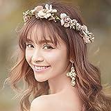 Simsly matrimonio moda rosa fiore floreale corona coroncina e accessori per spose e damigelle fs-081