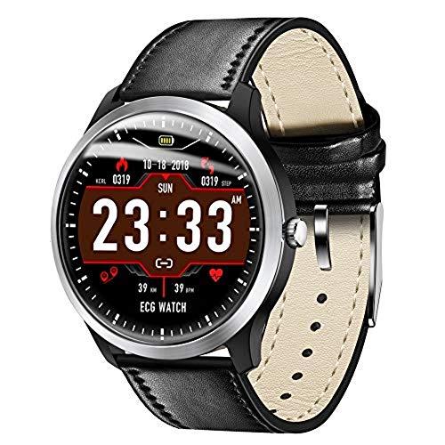 Ekg-anzeige (IFMASN Smart Watch  Farbbildschirm-EKG-Anzeige, dynamisches 3D-Symbol, 24-Stunden-Herzfrequenz, Schlafmodus, Blutdrucküberwachung, SMS/Telefon/Anwendungsnachrichten-Push, Android und IOS, Schwarz)