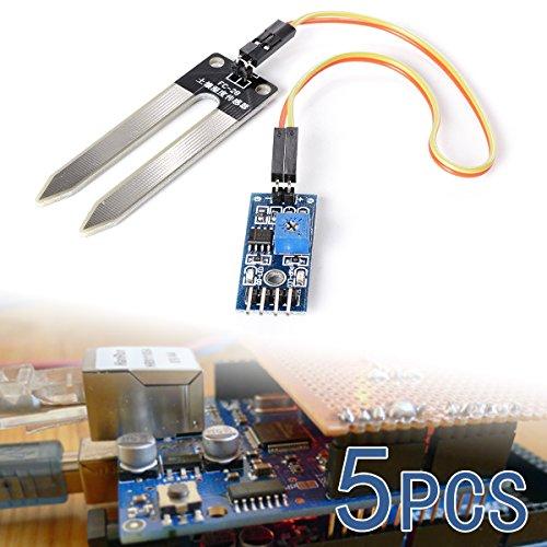 XCSOURCE 5x Boden Feuchtigkeit Hygrometer Feuchtigkeitserkennung Wasser Sensor Modul Arduino Kabel TE215