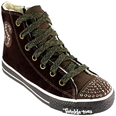 Kids Girls Skechers Twinkle Toes Dreamsters Lace Up Zip Trainers UK sizes 11.5-1