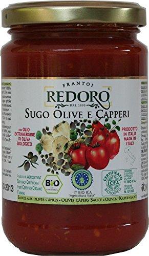 Bio Tomatensoße mit Oliven und Kapern 290 g - sugo olive e caperi, bio