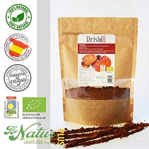 Reishi en polvo BeNatur Plus - 100% Hongo Reishi (Ganoderma Lucidum) de...