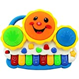 FunBlast® Drum Keyboard Musical Toys With Flashing Lights - Educational Musical Toys, Animal Sounds And Songs For Kids