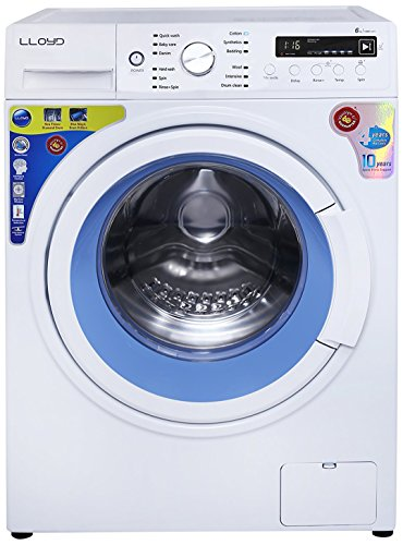 Lloyd 6 kg Fully-Automatic Front Loading Washing Machine (LWMF60, White and Blue)