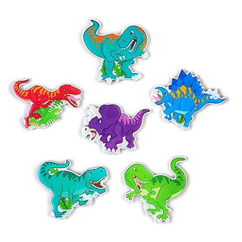 M MORCART Cute Dinosaur Fridge Magnets 6pcs Good Gift for Children and Aduits Suitable for Kitchen Fridge Office Whiteboards Slates Locker ect Metal Surface