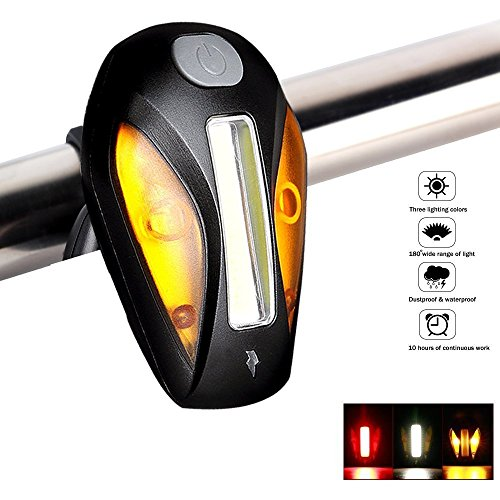 Lista 023 USB Bike Tail Light, Built -in Multi Purpose Clip (Black)