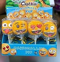 CAPTAIN Marshmallow Smiley POP 20G X 16PCS