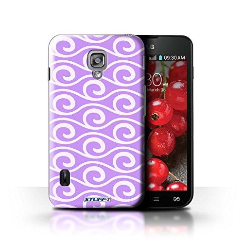 Kobalt® Imprimé Etui / Coque pour LG Optimus L7 II Dual / Rouge conception / Série Motif ondes chic Violet