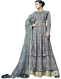 Style New Grey Embroidered Party Wear Attractive Look Stylish Fancy Designer Dress - B07D9R9TN2