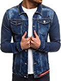 OZONEE MIX Herren Jeansjacke Übergangsjacke Jacke Denim Sweats Sweatjacke Frühlingsjacke Jeans Jacke OT/2021/18 BLAU XL