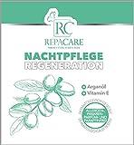 Anti-Aging Nachtpflege Creme - Gesichtspflegecreme 100 ml von RepaCare mit Vitamin E für Gesicht, Hals & Dekolleté - Feuchtigkeitsspendende Nachtmaske mit Arganöl - Naturkosmetik