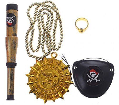Pirate Telescope Childrens play set with eye patch for boys and girls pretend toys pirate accessories