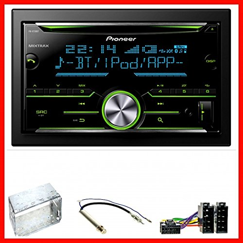 Pioneer FH-X730BT USB MP3 CD FLAC Bluetooth Einbauset für Golf 4 Passat 3B Polo 9N Lupo Ibiza 6L Bora