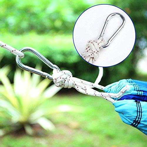 Gemütliche hochwertige Hängematte aus Fallschirmseide, bis 200 kg, 260 cm x 140 cm - 4