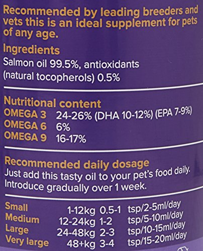 The Regal Mutt Scottish Salmon Oil For Dogs, Cats, Horses, Ferrets & Pets - 100% Pure Premium Food Grade - Natural Omega… 2