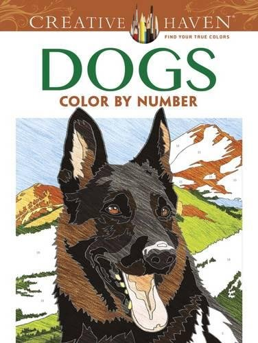Creative Haven Dogs Color by Number Coloring Book (Dover Publications Inc) por Diego Pereira