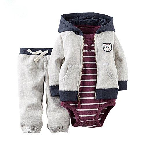 ARAUS Baby Kleidung Set Jungen Romper Langarm Sweatjacke Mädchen Outfits Hoodie Kombination 3-18 Monate Baby-jungen-set