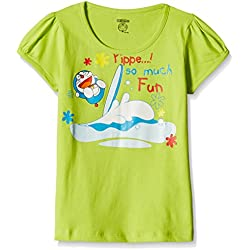 Cherokee Girls' T-Shirt (266056685_Green_7 - 8 years)