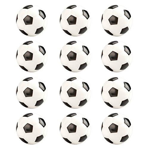 Gogo Fußball relaxable Handtrainer GRIP Balls, Heilstein Stress Bälle, 12Stück Einheitsgröße Black 12Pcs
