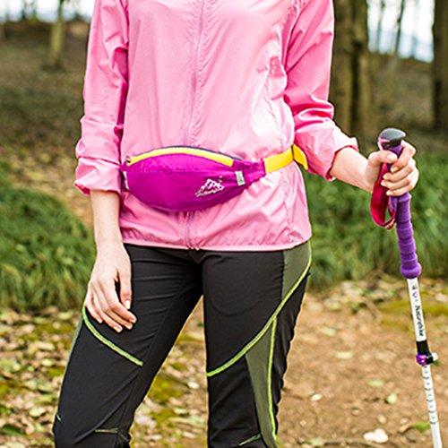 Jogging Radfahren Bergsteigen Wandern Hüfttasche Geldtasche, Wasserdicht und Praktisch Roserot