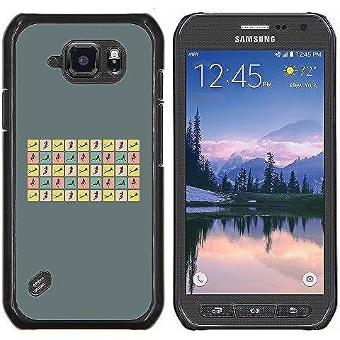 Copertura di plastica Shell Custodia protettiva || Samsung Galaxy S6 Active G890A || Donna sexy pone Curvy Corpo Hour Glass @XPTECH