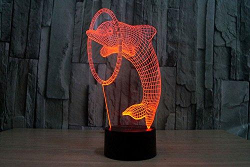 3D Lamp USB Power 7 couleurs Incroyable illusion optique 3D...