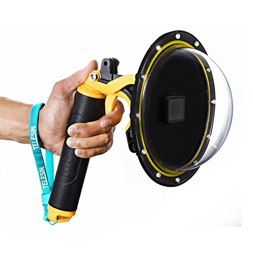 "TELESIN 6"" Underwater T05 Dome Port Diving Obiettivo Fotografia Porta Dome per la Gopro Hero 5 nero (T05 Dome Port, giallo)"