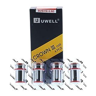Original Uwell Crown 3 Coils mit 0,5 Ohm Verdampferköpfe Kanthal A1 Coil