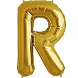 Theme My Party 16 inch Letter R - Gold A...