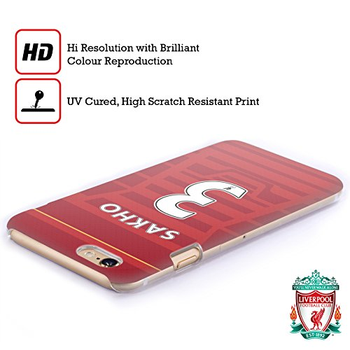 Offizielle Liverpool Football Club Coutinho Spieler Home Kit 16/17 Gruppe 1 Ruckseite Hülle für Apple iPhone 6 / 6s Sakho