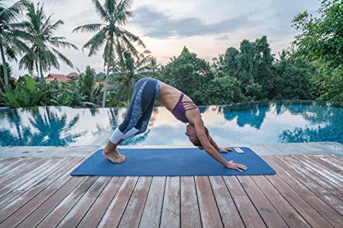Gymnastikmatte Premium inkl. Übungsposter + Tragegurt + Workout App GRATIS | Hautfreundliche - Phthalatfreie Fitnessmatte - Königsblau - 190 x 100 x 1,5 cm | Yogamatte