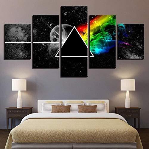 Olydmsky Leinwandbilder,Wandgemälde Wandkunst für wohnen, Pink Floyd Band Inkjet Malerei Computer Inkjet Kern Dekorationsmalerei Malerei (Band Für Malerei)