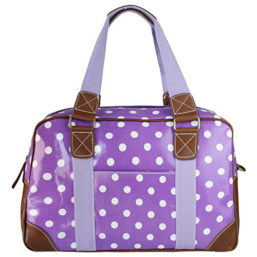 miss-lulu-ladies-polka-dot-oilcloth-travel-weekend-away-bag-purple-l1106d2-pe
