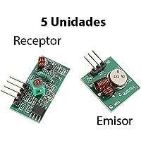 5X Módulo Emisor y Receptor RF 433MHz Inalambrico control remoto receiver Arduino