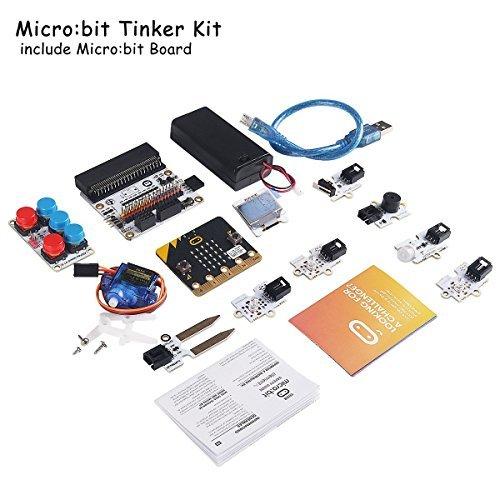 MakerHawk Micro: Bit Tinker Kit enthält Micro: Bit Board, Mikro: Bit Breakout Board, Octopus PIR Sensormodul für den Unterricht im Klassenzimmer und für Heimwerker Pir-kit