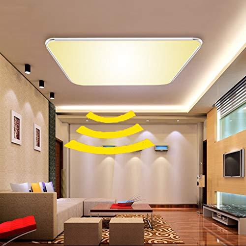 Preisvergleich Produktbild ADEMAY LED Sensor Deckenleuchte Deckenlampe Radar Sensorleuchte mit Bewegungsmelder für Wohnzimmer Schlafzimmer Flurleuchte Innenbeleuchtung (Platz-24W Warmweiß)