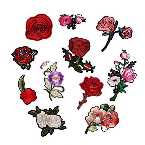 11pcs-bordado-rosa-flor-coser-parches-termoadhesivos-sombrero-ropa-apliques