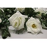 Best Artificial 210 cm %2f 2,13 Meters Silk Flower Ghirlanda di Rose, da appendere per piante di vite bianco