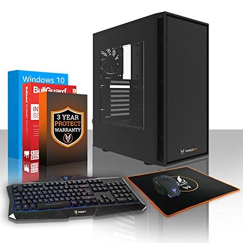 Fierce Guardian High-End Gaming PC Bundeln - Schnell 4.3GHz Octa-Core AMD Ryzen 7 2700X, 1TB SSHD, 8GB, NVIDIA GeForce GTX 1060 6GB, Windows 10, Tastatur Maus (VK/QWERTY) 397257