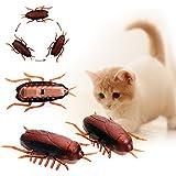 Elektronische Vibrationen Kriechen Kakerlaken für Katzen Interaktives Spielzeug (1st)