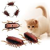 1 Stück Elektronische Vibrationen Kriechen Kakerlaken für Katzen Interaktives Spielzeug
