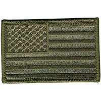 WOODLAND AMERICAN FLAG, Sew-On, Heat Sealed Backing Rayon VELCRO PATCH - 3