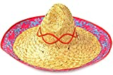 Sombrero Mexico-Hut Party-Hut Fasching Karneval Stroh-Hut One Size