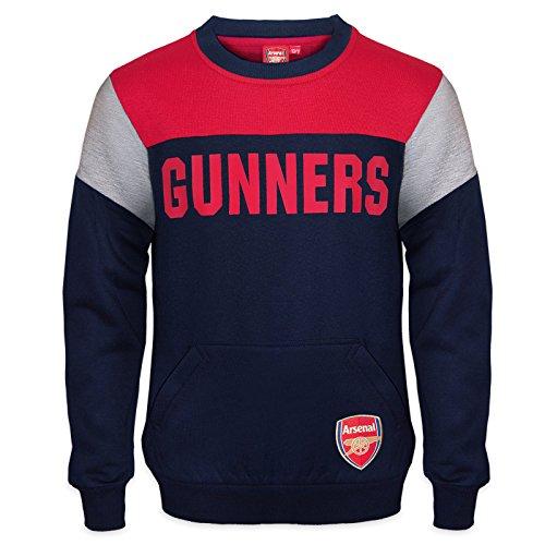 Arsenal FC - Jungen Sweatshirt mit Vereinswappen - Offizielles Merchandise - Geschenk für Fußballfans - 8-9 Jahre