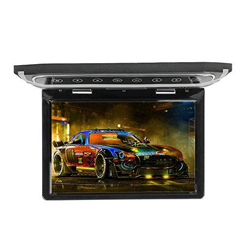 12,1 Zoll Flip Down Monitor 1080 P HD TFT LCD Dach Montieren Monitor Ultra Thin Overhead Video Player für Auto HDMI SD MP3 MP4 LED (CL1201HD-Schwarz)